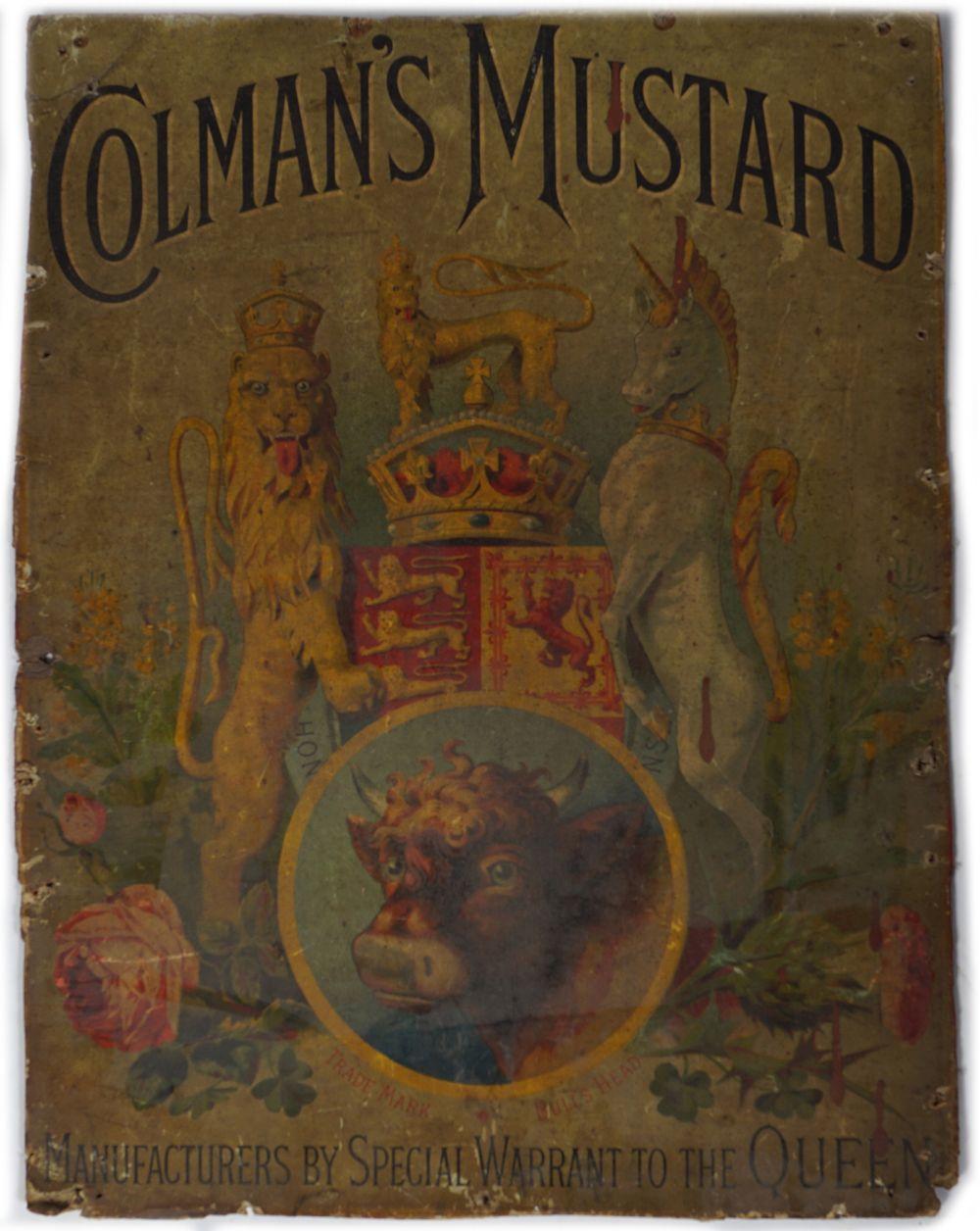 ORIGINAL COLMAN'S MUSTARD POSTER