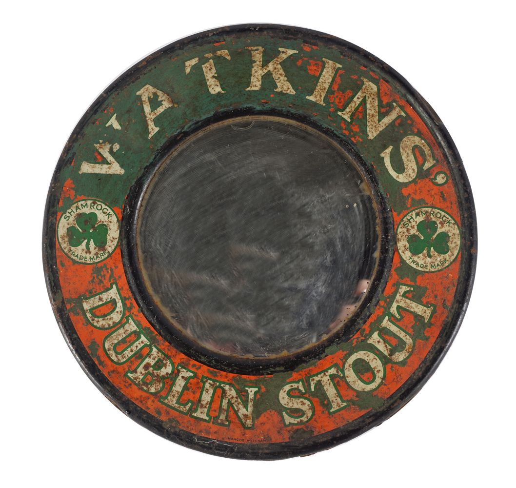 WATKIN'S DUBLIN STOUT ADVERTISING MIRROR