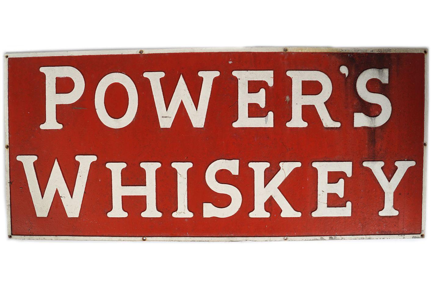 POWER'S WHISKEY ADVERTISING SIGN