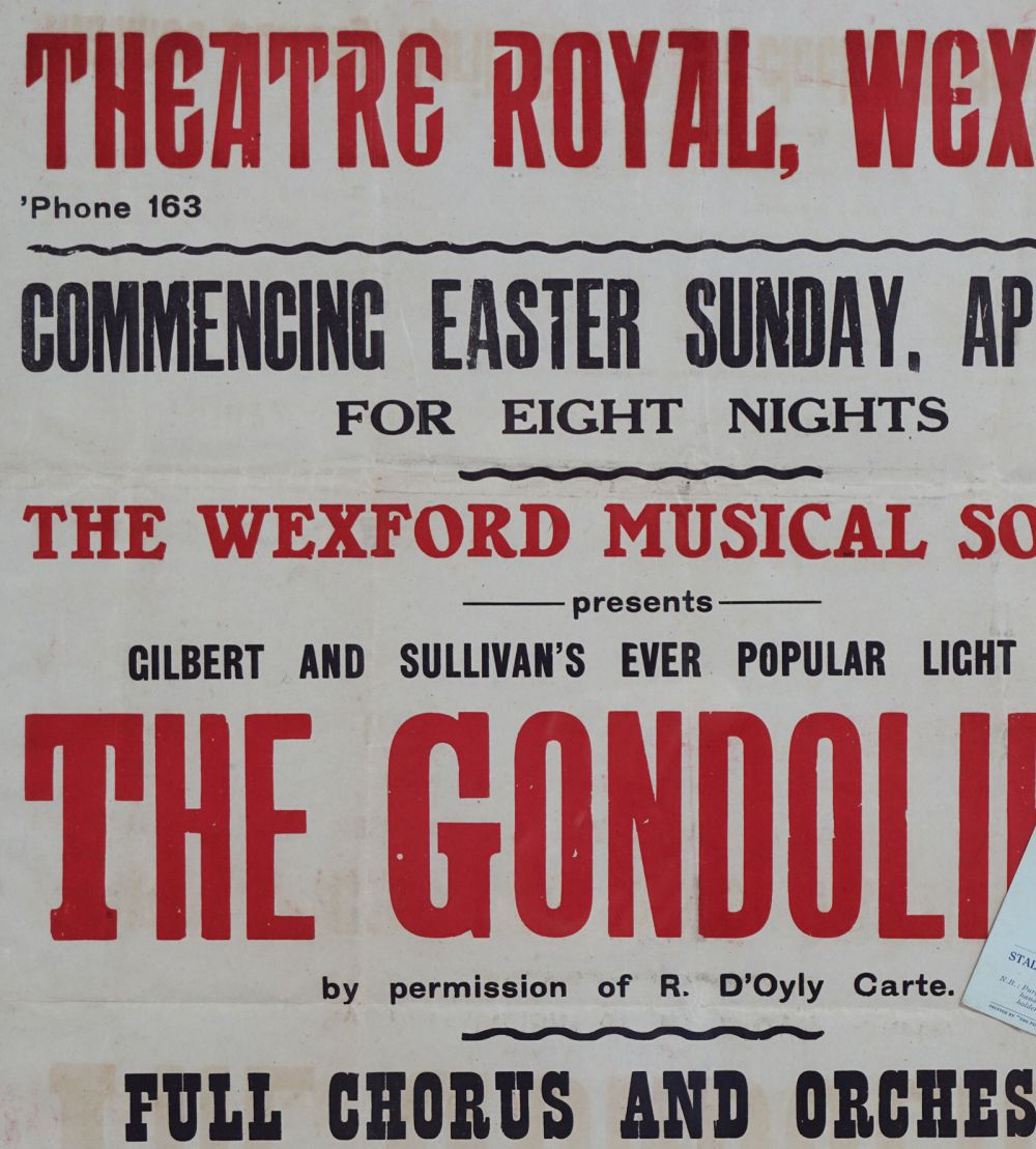 THEATRE ROYAL, WEXFORD ORIGINAL POSTER - Image 2 of 3