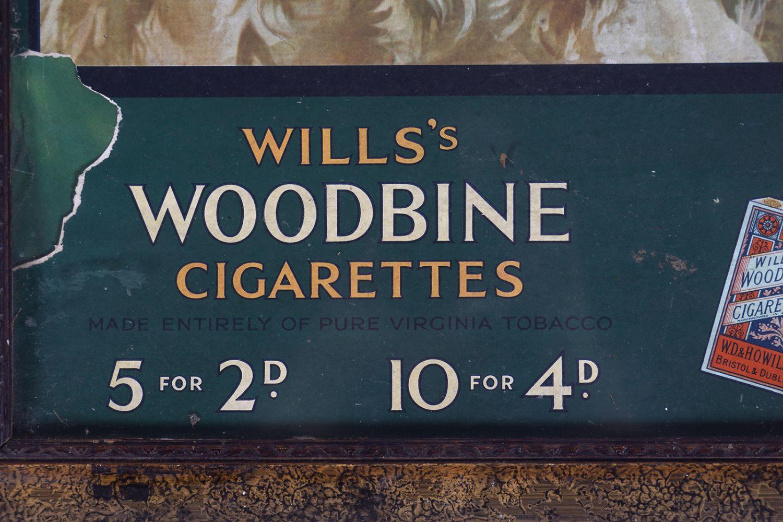 WILLS'S WOODBINE CIGARETTES ORIGINAL POSTER - Image 3 of 5