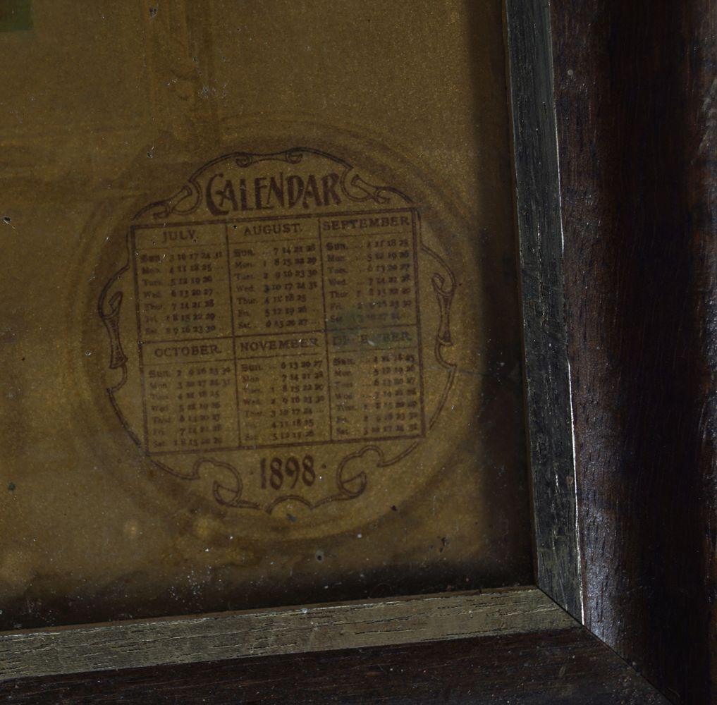 DELICIOUS MAZAWATTEE TEA CALENDAR 1898 - Image 6 of 8