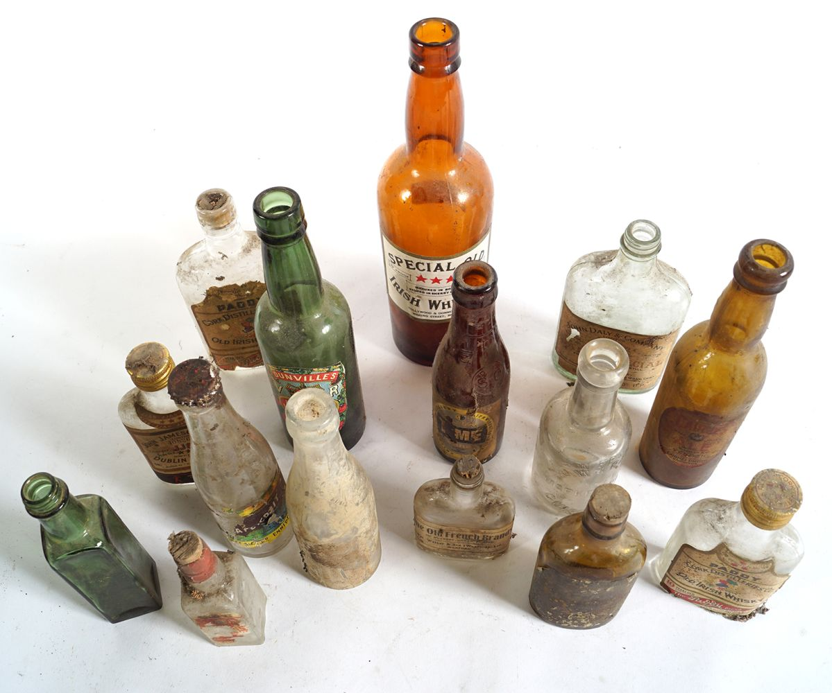 LOT OF 16 OLD WHISKEY AND BEER BOTTLES - Image 7 of 7