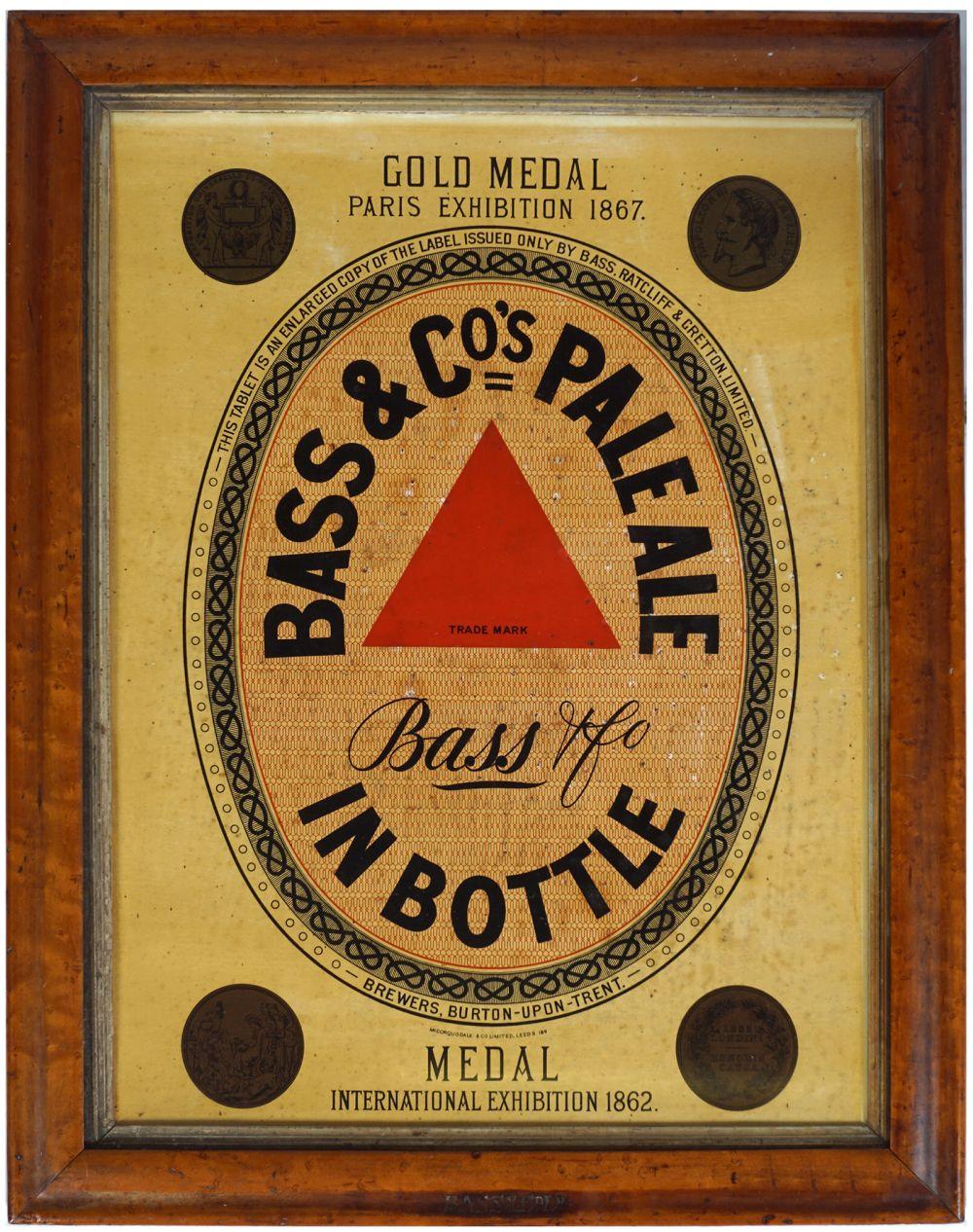 BASS & CO'S PALE ALE ORIGINAL VINTAGE POSTER