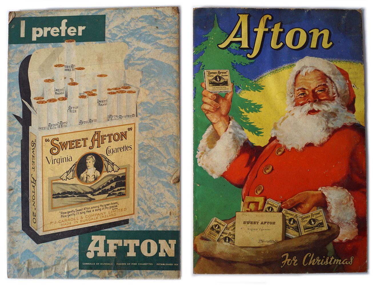 2 AFTON FOR CHRISTMAS ORIGINAL POSTERS