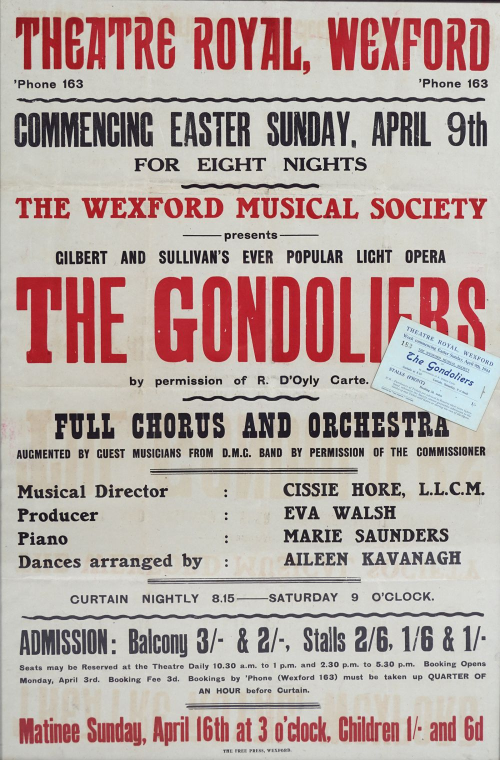 THEATRE ROYAL, WEXFORD ORIGINAL POSTER - Image 3 of 3