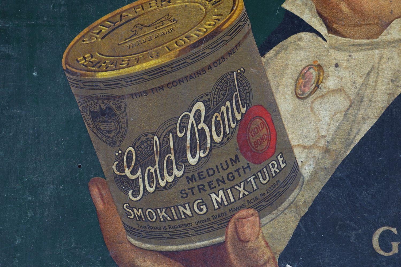 ITS GOLD BOND SMOKING MIXTURE ORIGINAL POSTER - Image 3 of 4