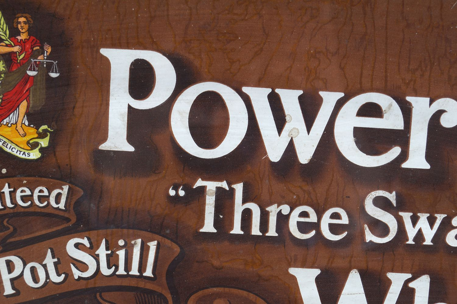 POWERS THREE SWALLOW WHISKEY ORIGINAL POSTER - Image 3 of 6