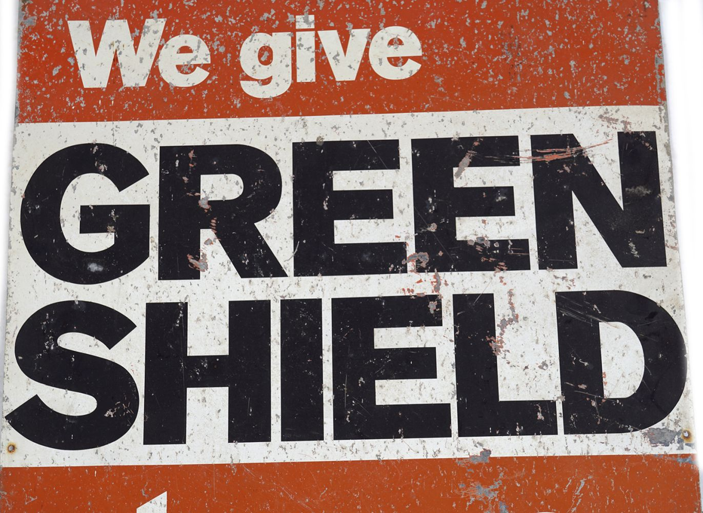 WE GIVE GREENSHIELD STAMPS ORIGINAL SIGN - Image 2 of 3
