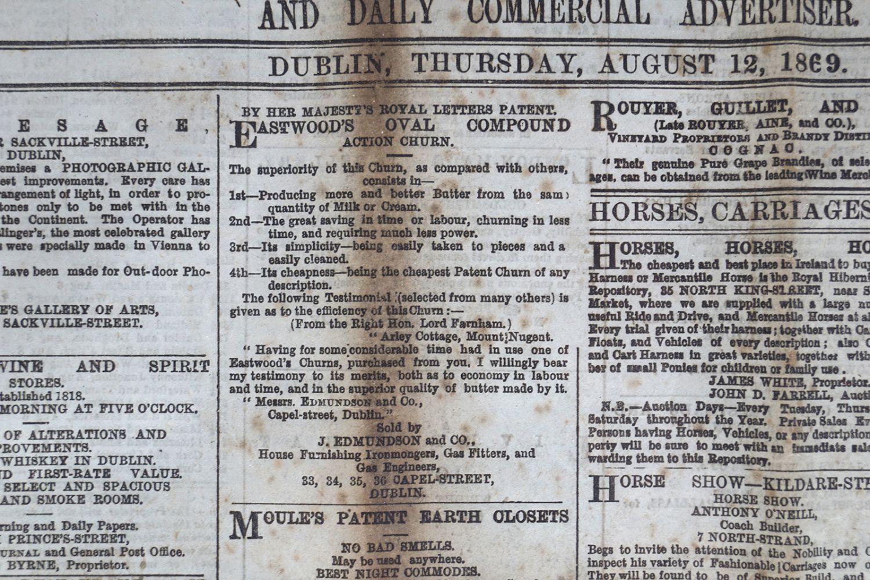 THE FREEMAN'S JOURNAL FRAMED NEWSPAPER - Image 6 of 8