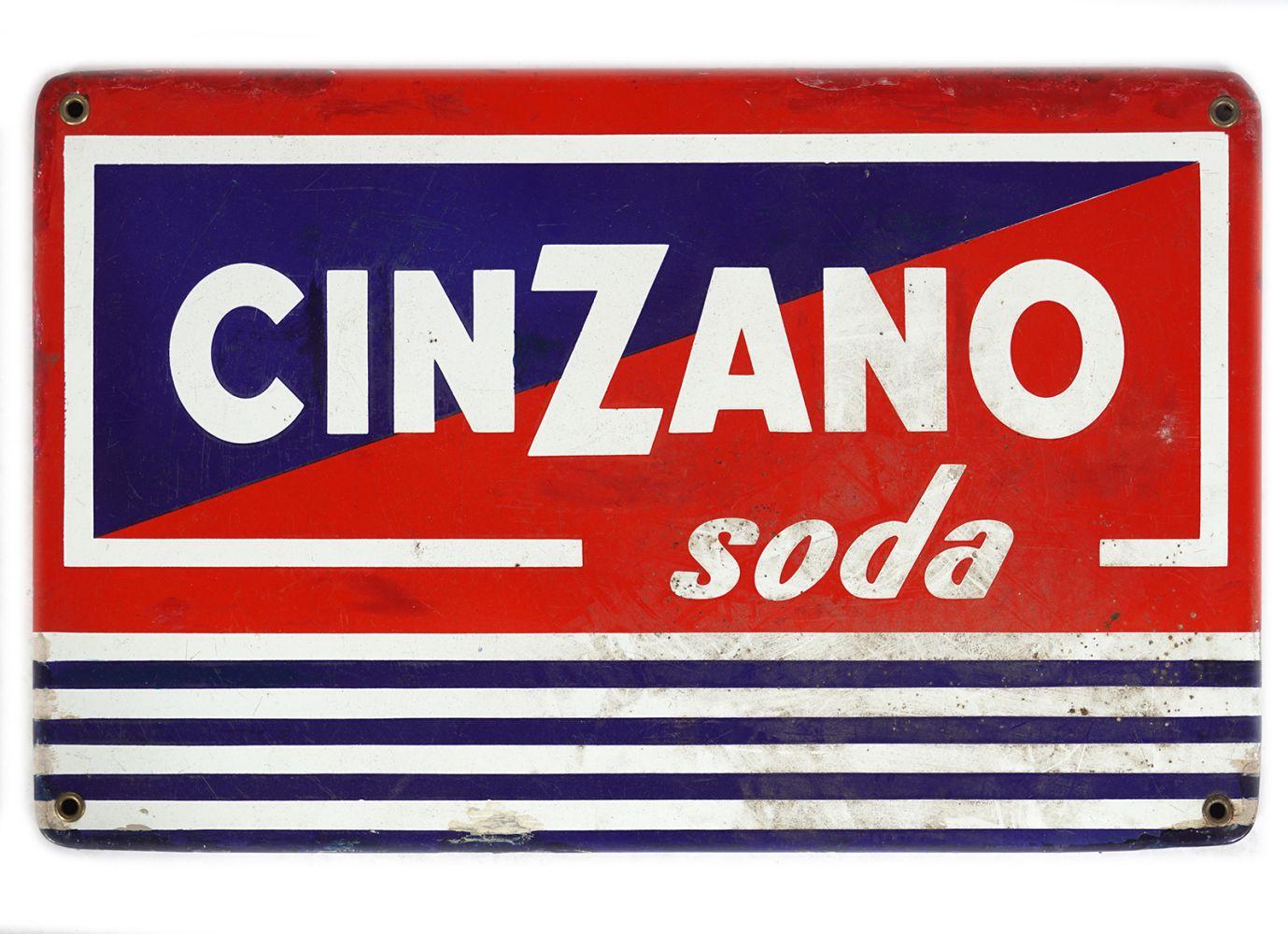 CINZANO SODA ENAMELLED SIGN