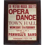THE WEXFORD MUSICAL SOCIETY'S OPERA DANCE POSTER