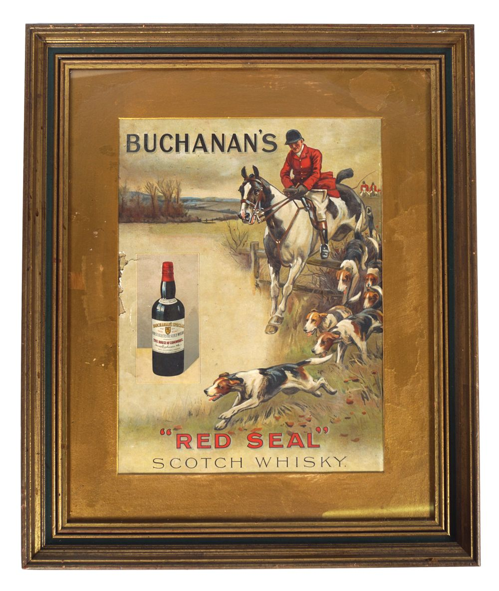 BUCHANAN'S 'RED SEAL' SCOTCH WHISKY POSTER