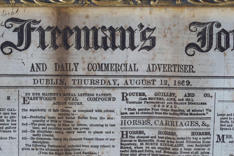 THE FREEMAN'S JOURNAL FRAMED NEWSPAPER - Image 3 of 8