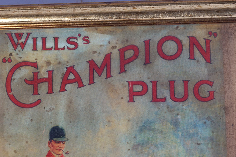 WILLS'S CHAMPION PLUG ORIGINAL POSTER - Image 2 of 5