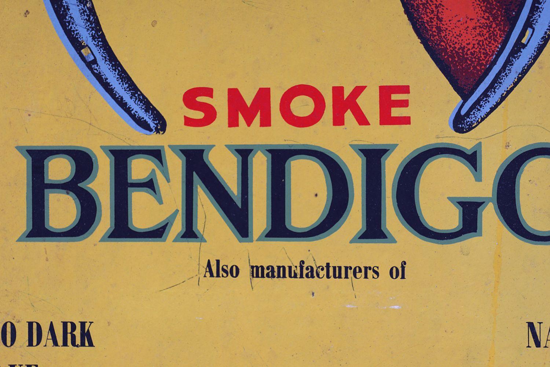 SMOKE BENDIGO ORIGINAL VINTAGE POSTER - Image 3 of 4