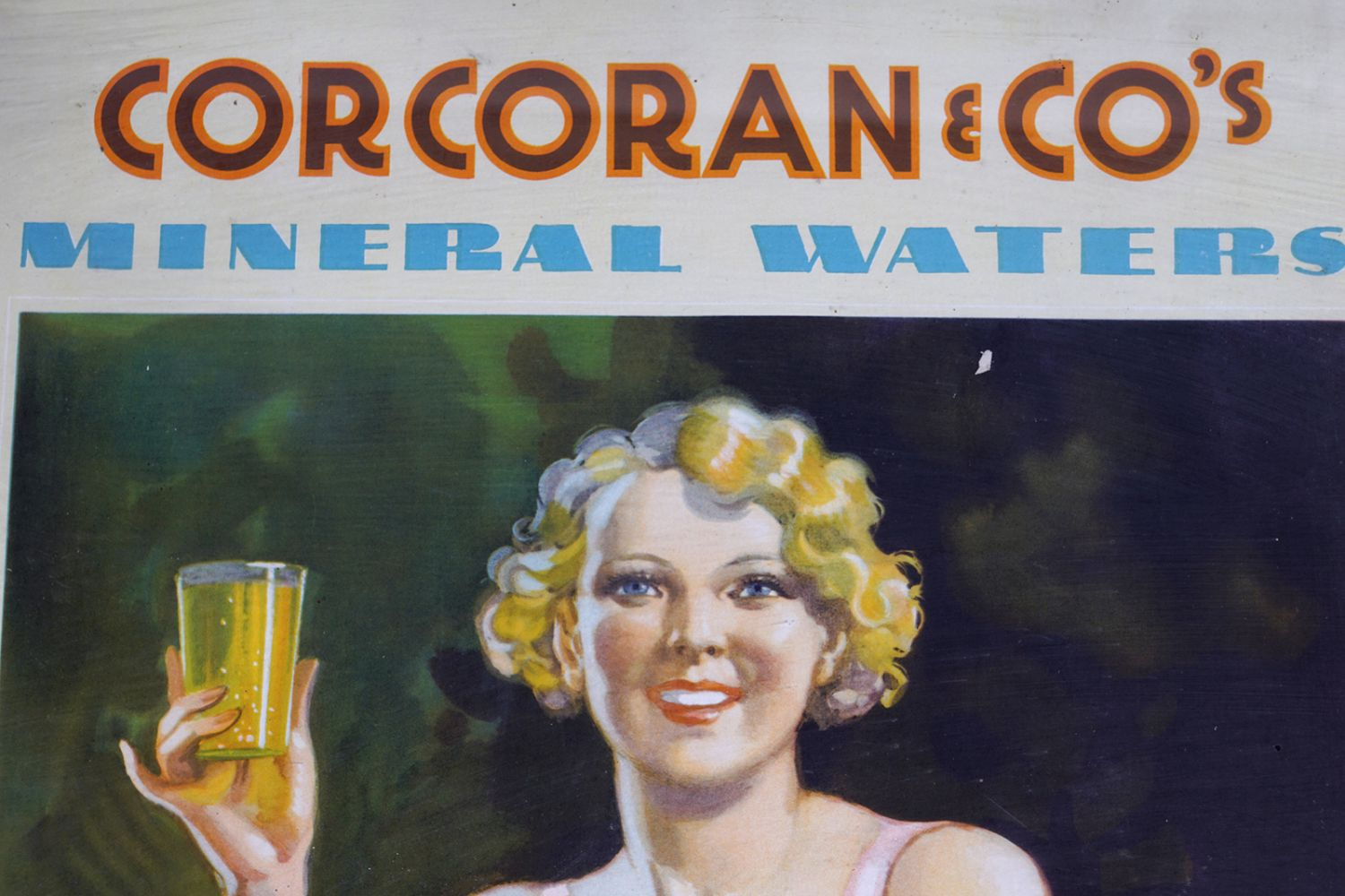 CORCORAN & CO'S MINERAL WATERS ORIGINAL SIGN - Image 2 of 6