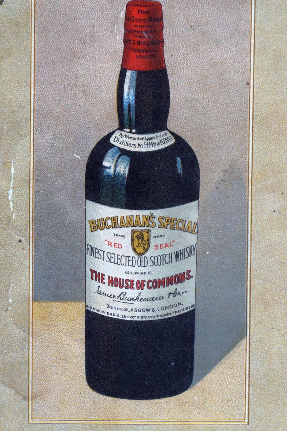 BUCHANAN'S 'RED SEAL' SCOTCH WHISKY POSTER - Image 4 of 4