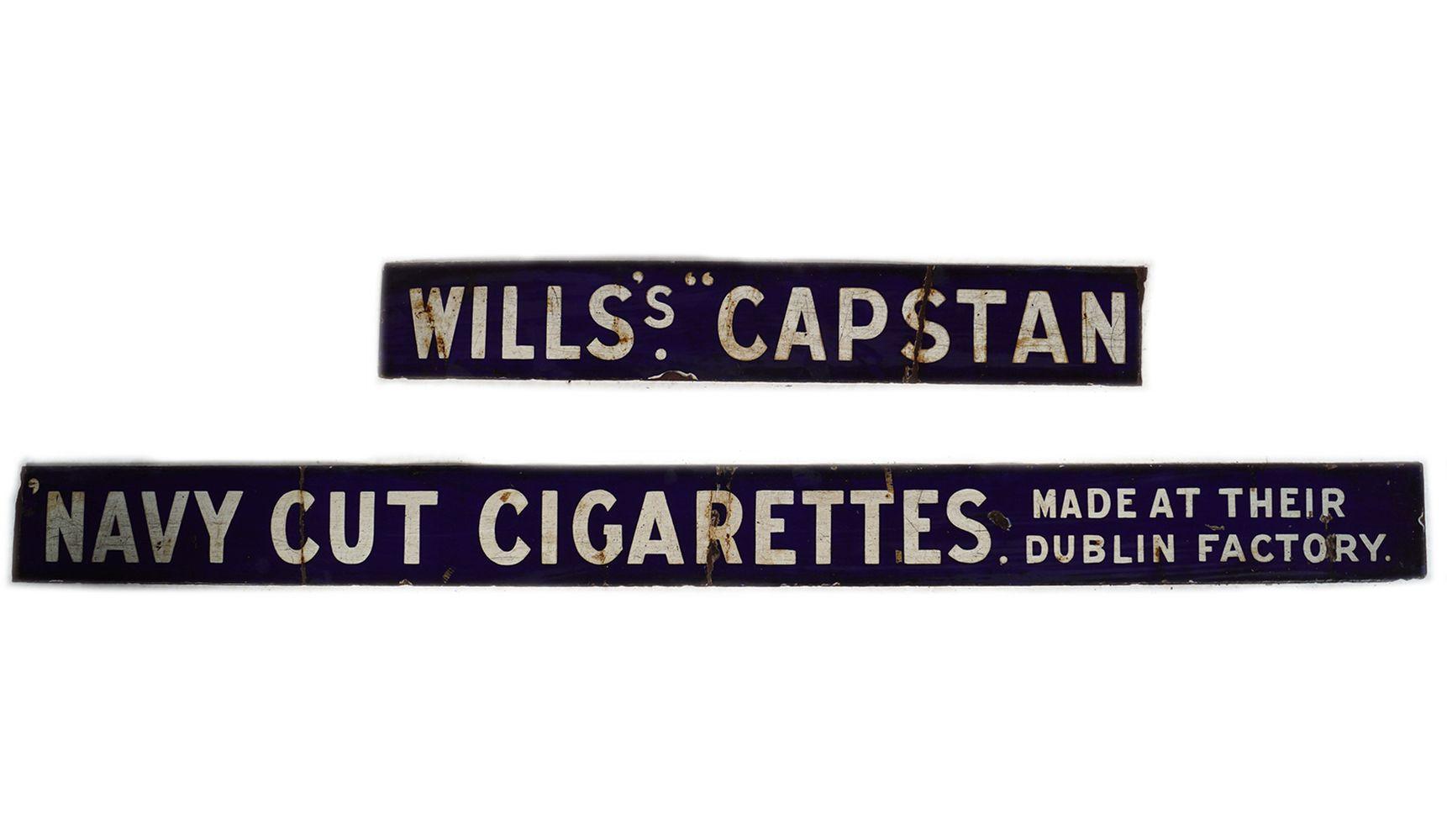 WILLS'S CAPSTAN NAVY CUT CIGARETTES SIGN