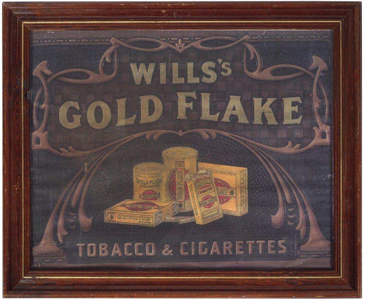 WILLS'S GOLD FLAKE TOBACCO ORIGINAL POSTER