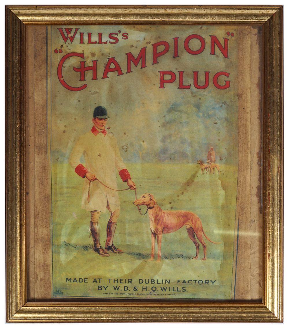 WILLS'S CHAMPION PLUG ORIGINAL POSTER