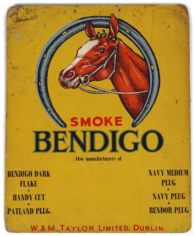 SMOKE BENDIGO ORIGINAL VINTAGE POSTER