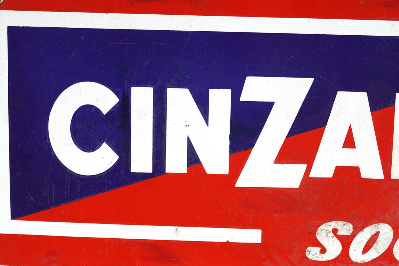 CINZANO SODA ENAMELLED SIGN - Image 2 of 2