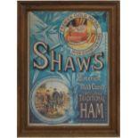 SHAW'S HAM ORIGINAL VINTAGE POSTER