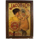 JACOB & CO'S BISCUITS FRAMED ORIGINAL POSTER