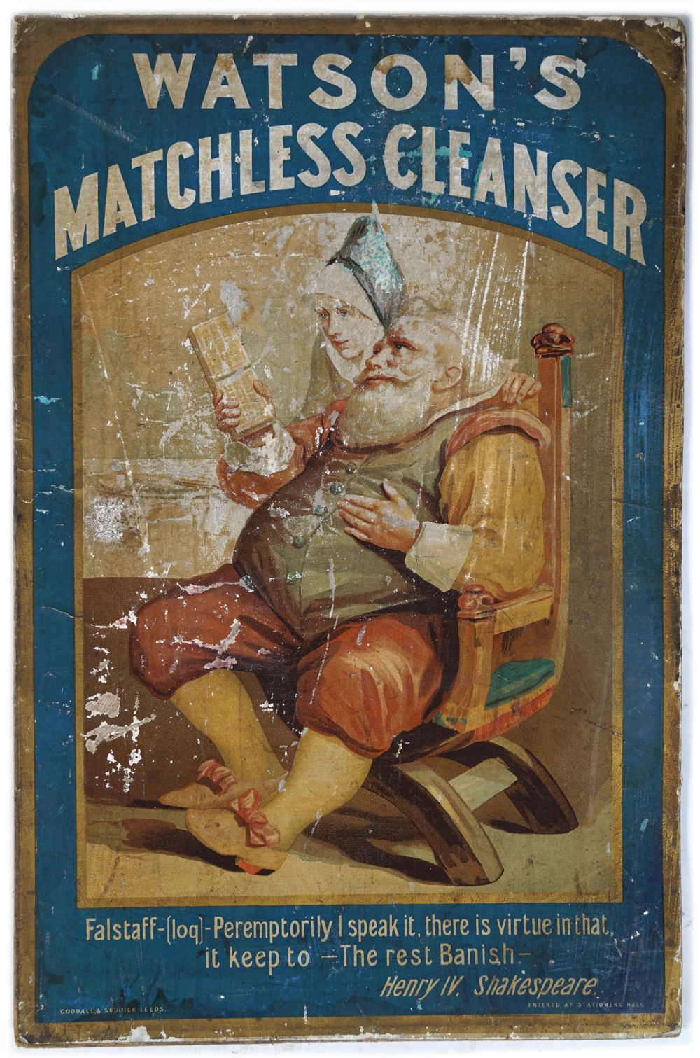 WATSON'S MATCHLESS CLEANSER VINTAGE POSTER