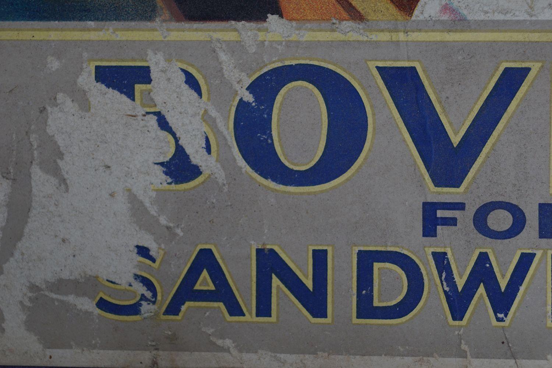 BOVRIL FOR SANDWICHES ORIGINAL VINTAGE POSTER - Image 3 of 4