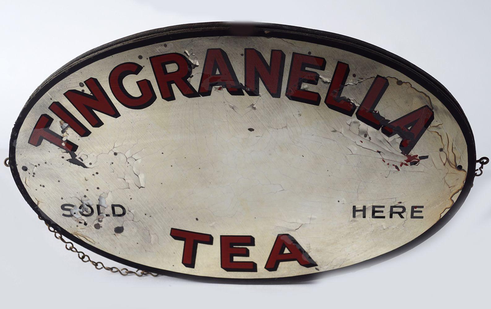 TINGRANELLA TEA ORIGINAL ADVERTISEMENT MIRROR