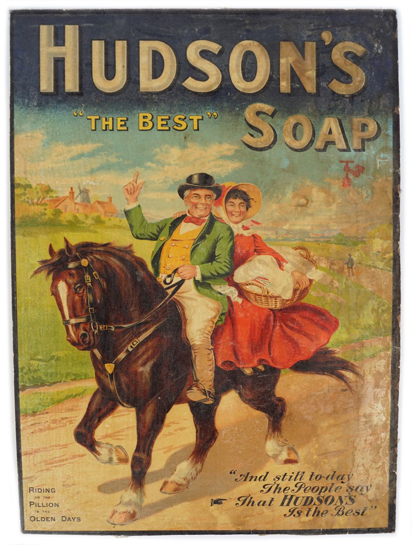 "HUDSON'S ""THE BEST"" SOAP ORIGINAL POSTER"