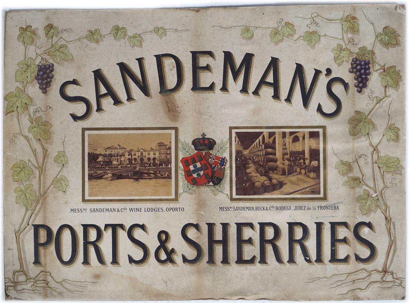 SANDEMAN'S PORTS & SHERRIES ORIGINAL POSTER