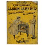 ALBION LAMP COY, LTD. VINTAGE ORIGINAL POSTER