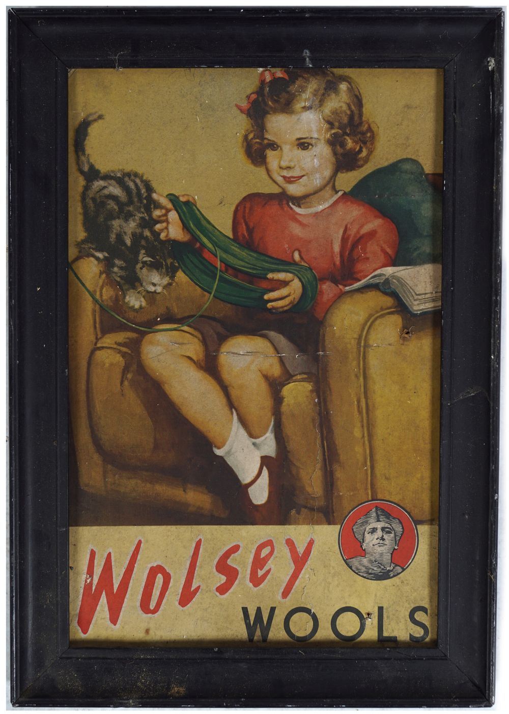 WOLSEY WOOLS ORIGINAL VINTAGE POSTER