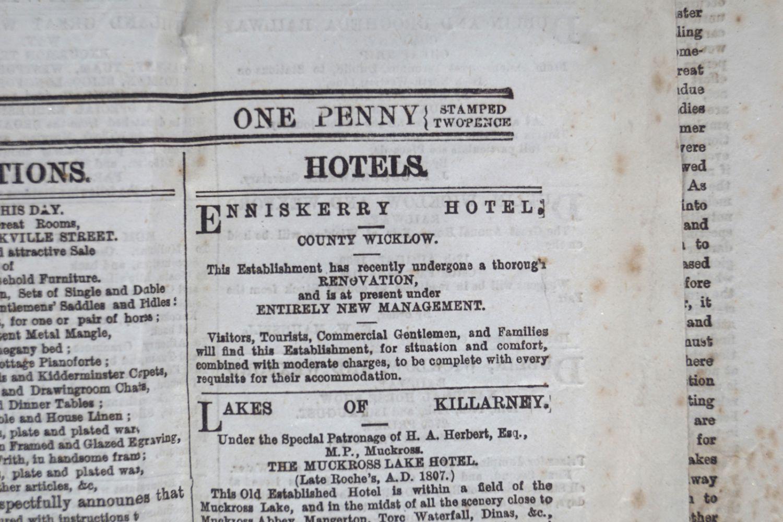 THE FREEMAN'S JOURNAL FRAMED NEWSPAPER - Image 8 of 8