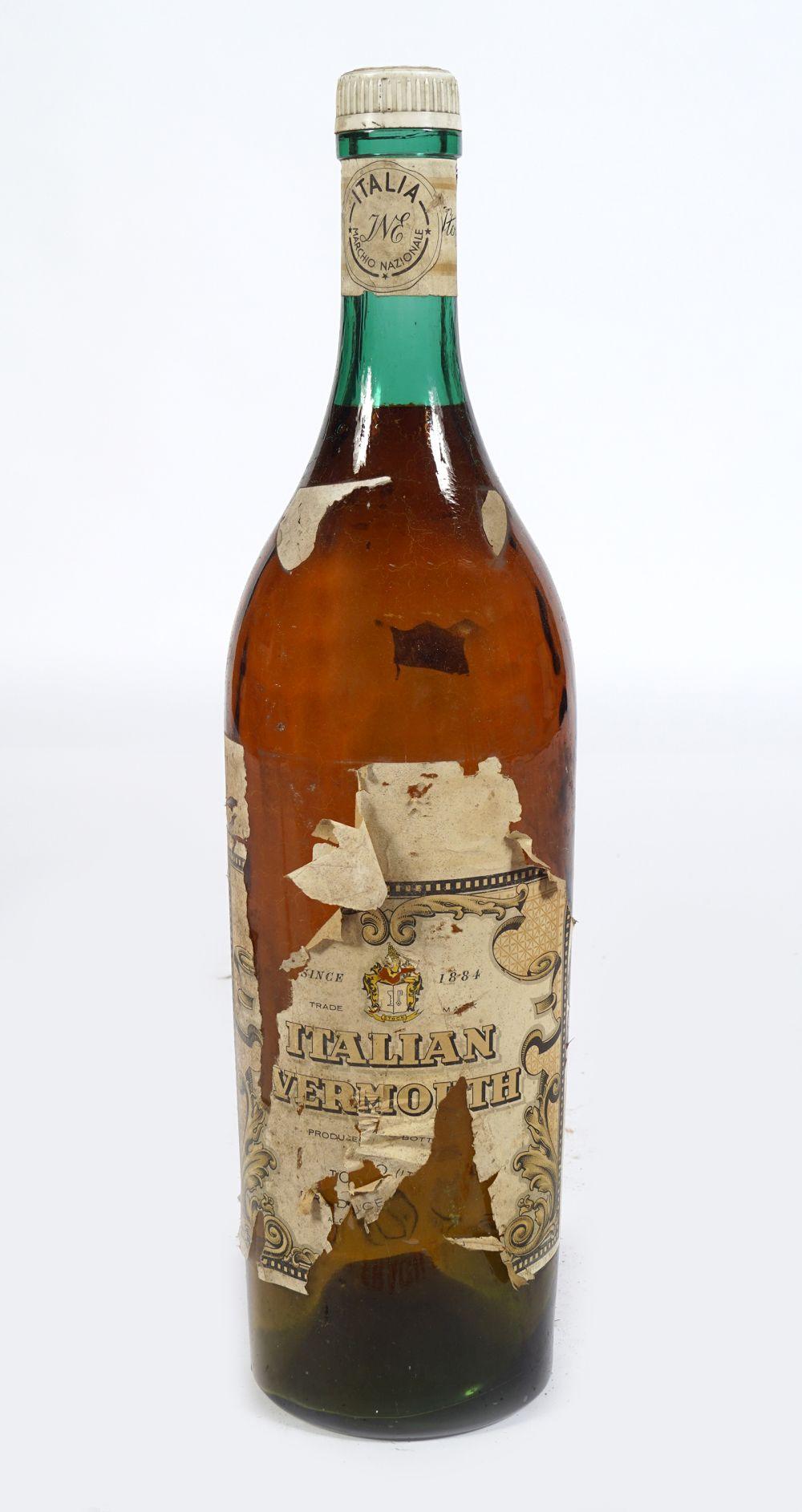 OLD BROWN GLASS MAGNUM BOTTLE