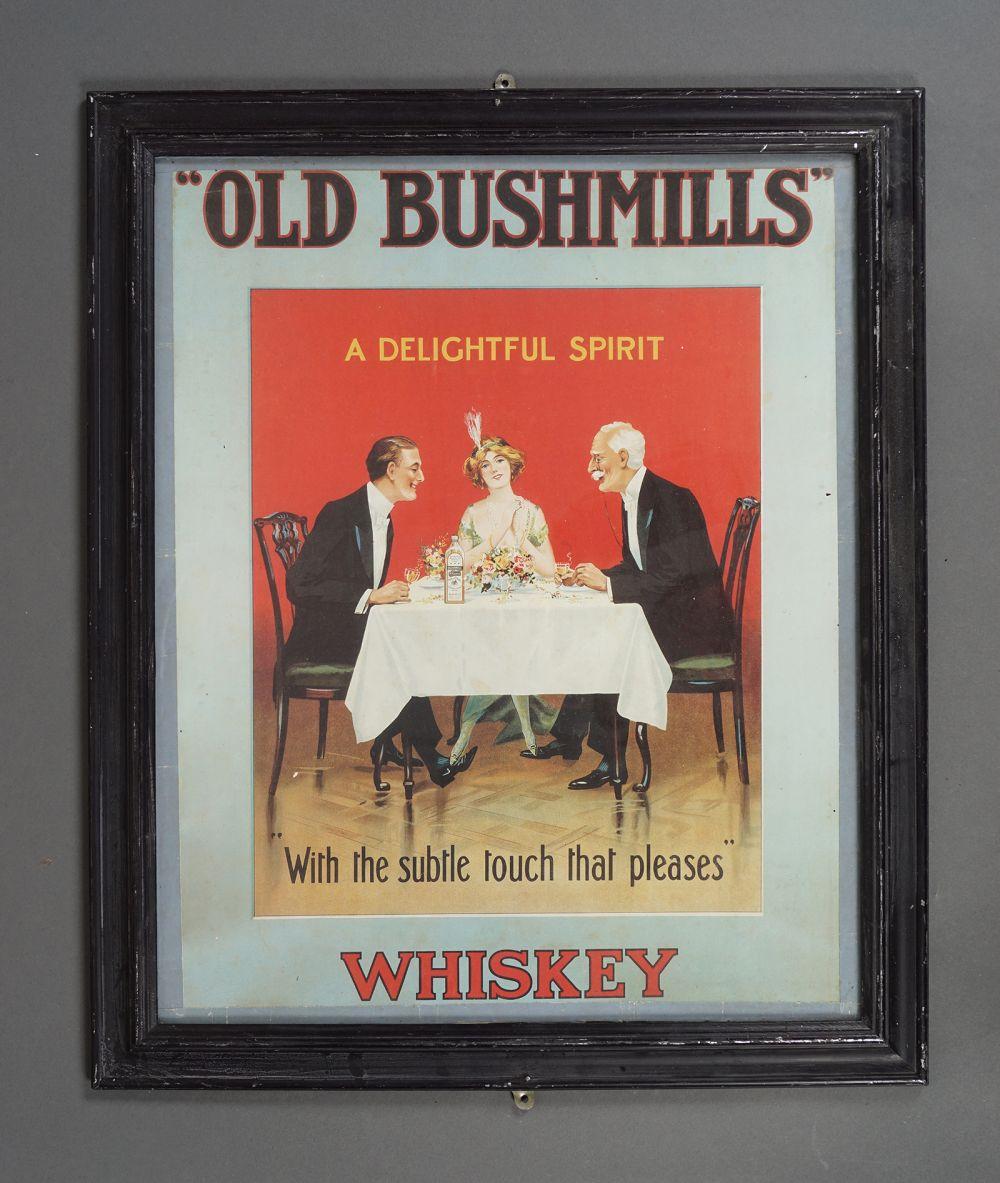 OLD BUSHMILLS WHISKEY POSTER