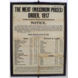THE MEAT (MAXIMUM PRICES) ORDER, 1917