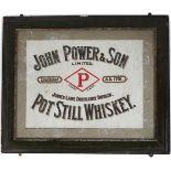 JOHN POWER & SON POT STILL WHISKEY SIGN