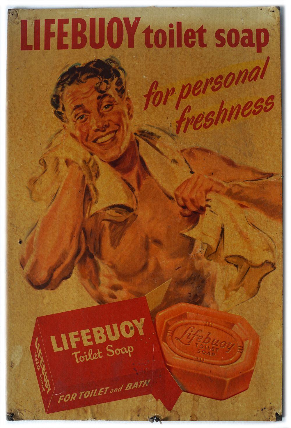 LIFEBUOY TOILET SOAP ORIGINAL POSTER