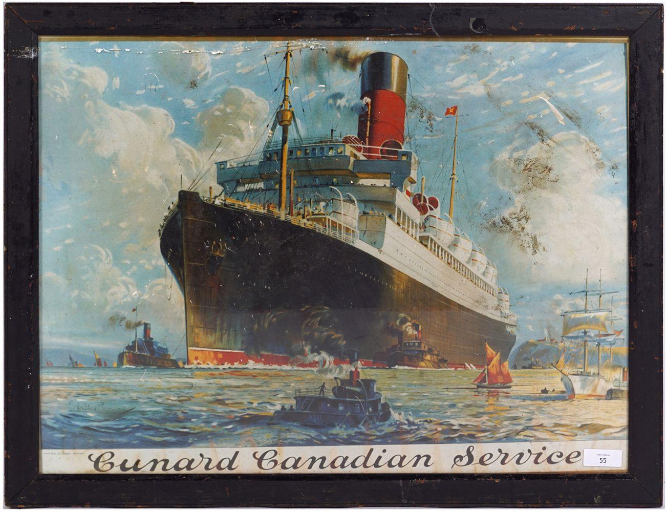 CUNARD CANADIAN SERVICE ORIGINAL POSTER