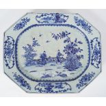 18TH-CENTURY CHINESE BLUE AND WHITE PLATTER