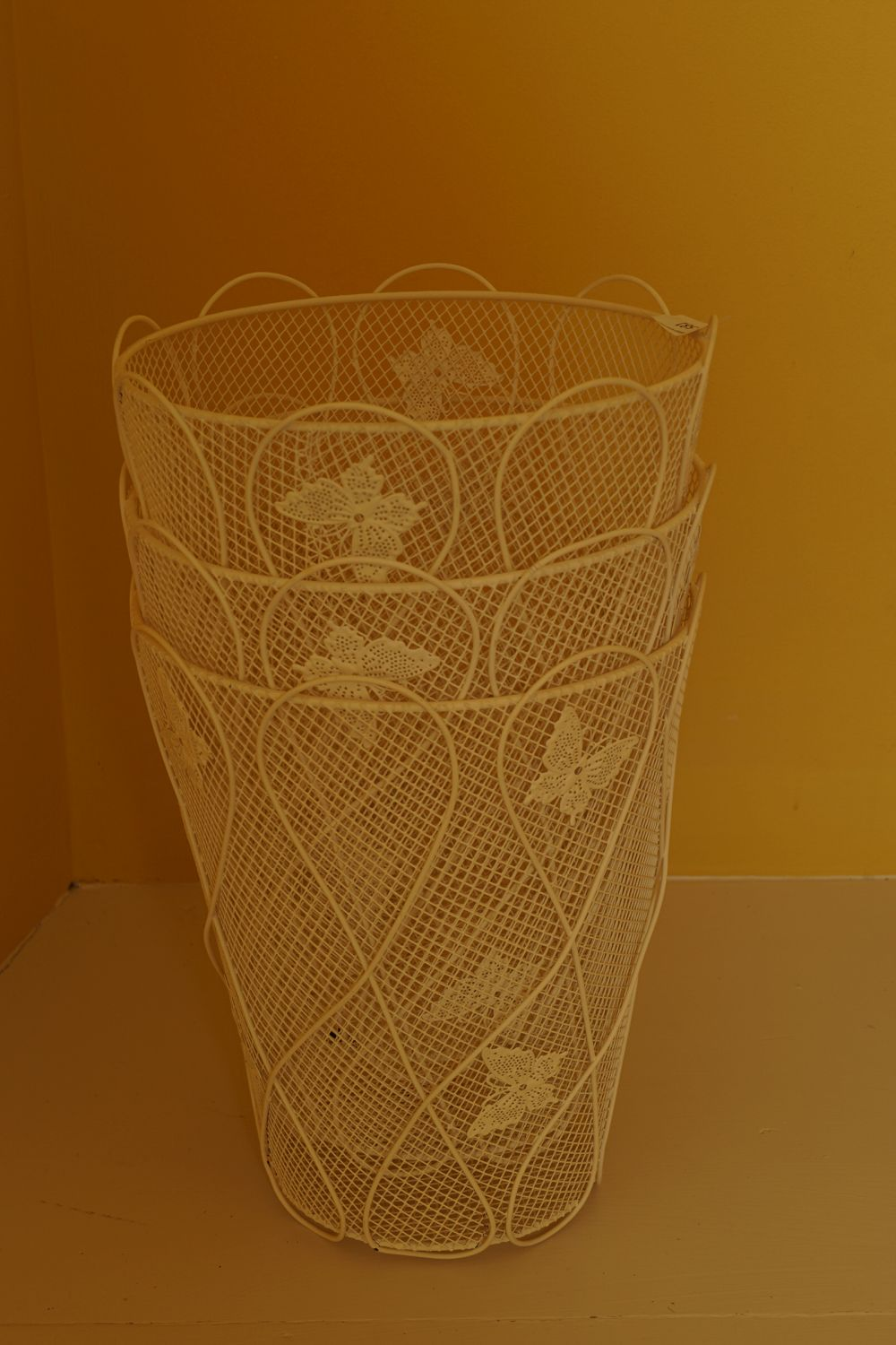 LOT OF 3 WIRE WORK PAPER BASKETS