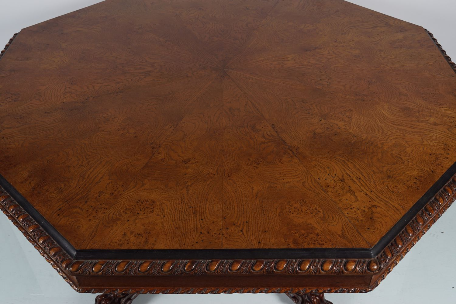 IMPORTANT WILLIAM IV OAK DINING TABLE - Image 6 of 7