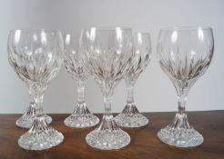 SET OF 6 BACCARAT WINE GLASSES