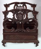 PAIR OF EDWARDIAN CHIPPENDALE BEDS
