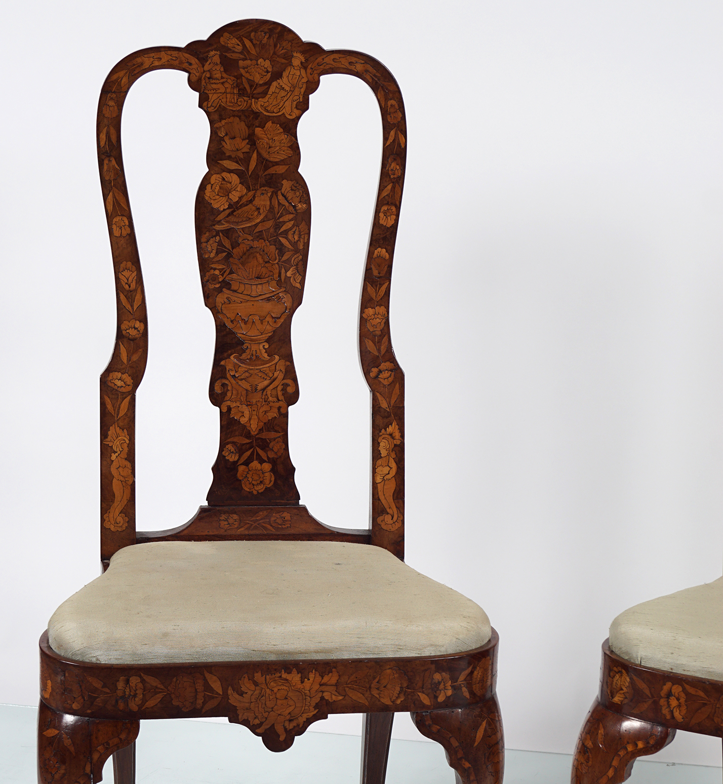 PAIR OF 19TH-CENTURY DUTCH MARQUETRY CHAIRS - Image 2 of 3