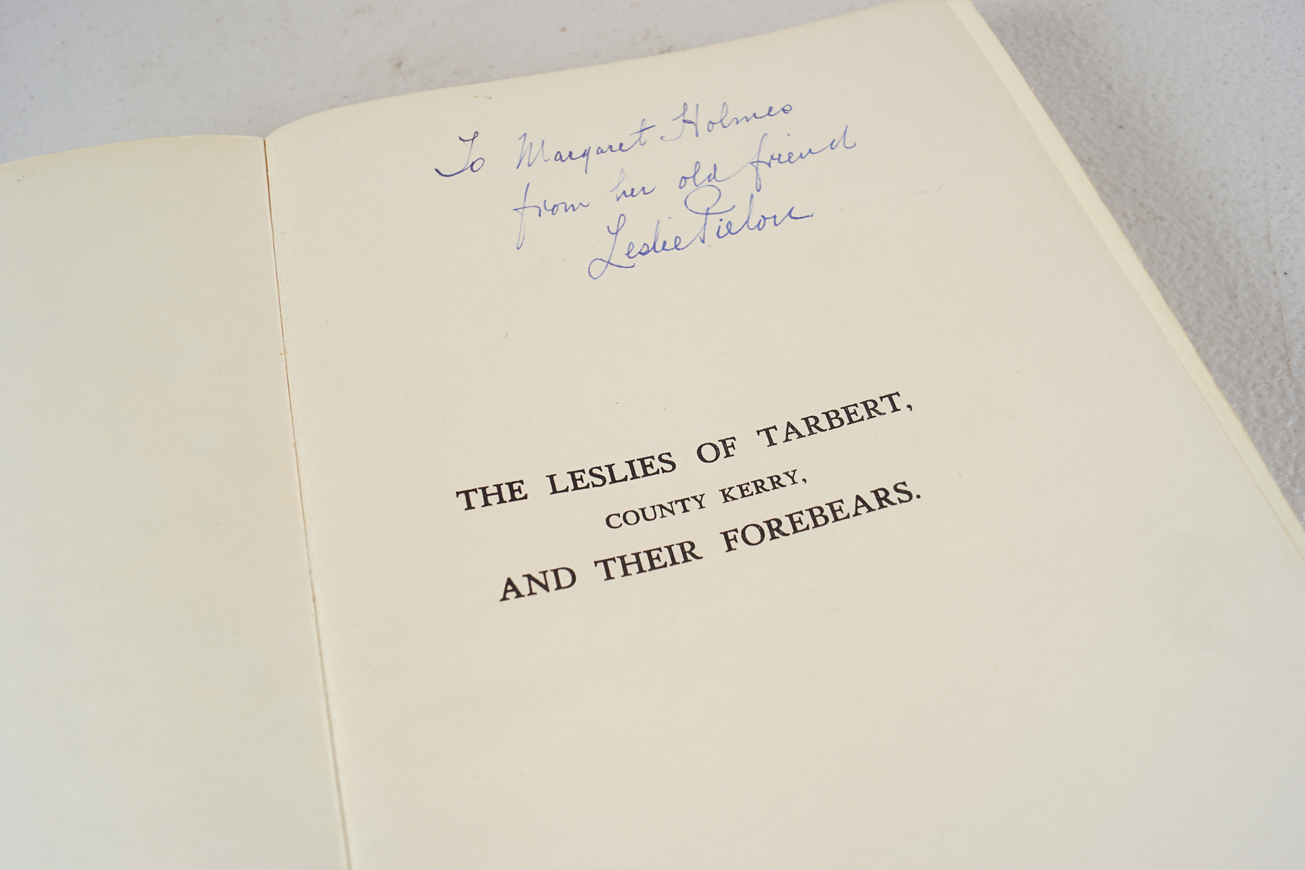 BOOK: THE LESLIES OF TARBERT CO. KERRY - Image 3 of 7